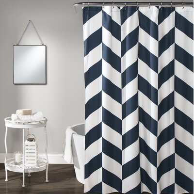Silvia Chevron Shower Curtain