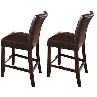Fenley Bar Stool (Set of 2) Upholstery: Brown
