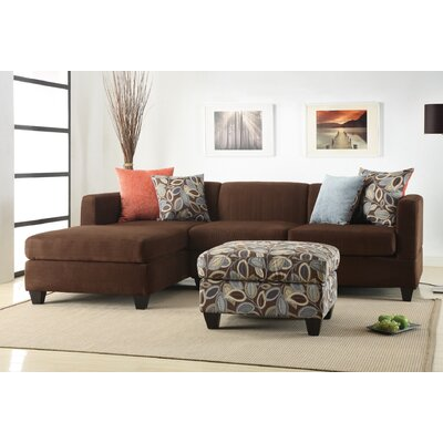 Zipcode Design ZIPC1920 26282045 Ashtyn Reversible Chaise Sectional with Ottoman Upholstery