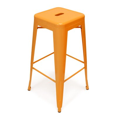 Louisa 26.5 Bar Stool Finish: Orange
