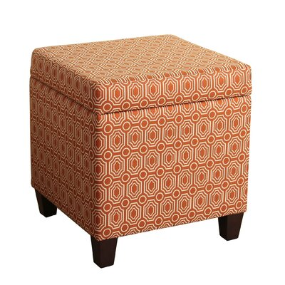 Reeves Storage Cube Ottoman Upholstery: Orange