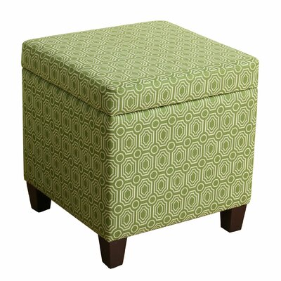 Reeves Storage Cube Ottoman Upholstery: Apple Green