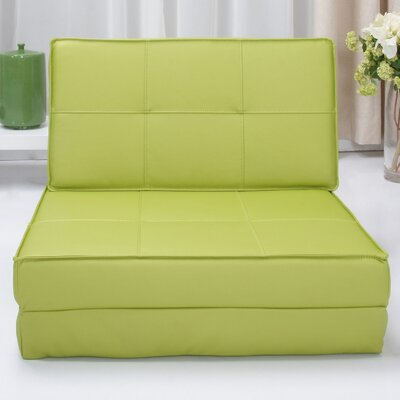 Onderdonk Convertible Chair Bed Upholstery: Green