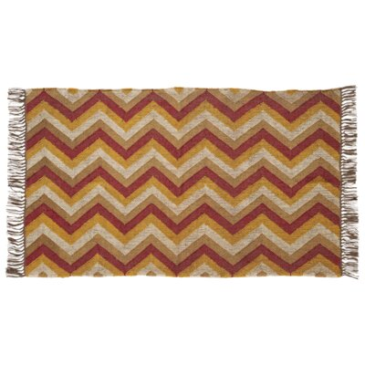 Lizette Red/Yellow Area Rug Rug Size: 4 x 6