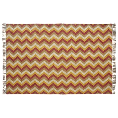 Lizette Red/Yellow Area Rug Rug Size: 6 x 9