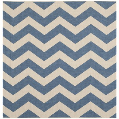 Mullen Blue/Beige Indoor/Outdoor Area Rug Rug Size: Square 4