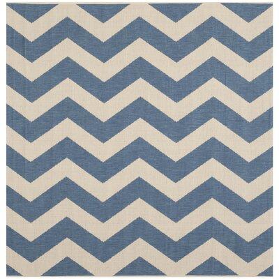 Estella Blue/Beige Indoor/Outdoor Area Rug Rug Size: Square 67