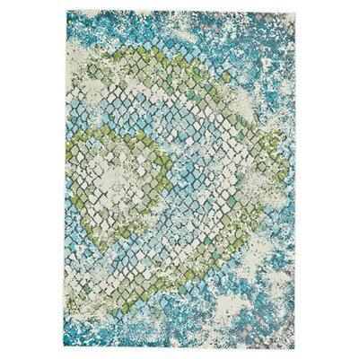 Rollo Green/Blue Area Rug Size: 5 x 8