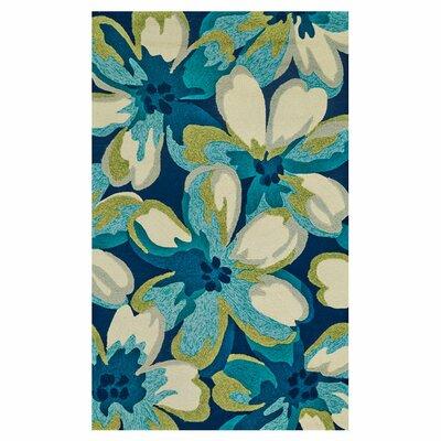 Ronan Handmade Blue/Cream Indoor/Outdoor Area Rug Size: 86 x 116