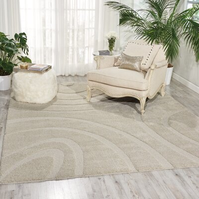 Tonette Abstract Cream Area Rug Rug Size: Rectangle 32 x 5