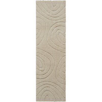 Tonette Abstract Cream Area Rug Rug Size: Runner 22 x 76
