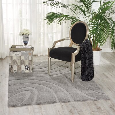 Tonette Silver Area Rug Rug Size: Rectangle 67 x 96
