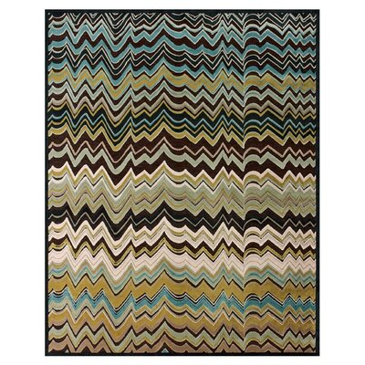 Christofor Brown/Green Area Rug Rug Size: Rectangle 53 x 76
