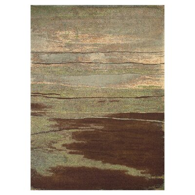 Claribel Brown/Gray Area Rug Rug Size: 5 x 8