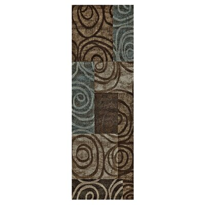 Claribel Brown Area Rug Rug Size: Runner 21 x 71