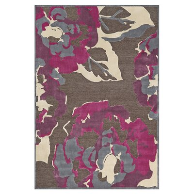 Dennet Brown/Purple Area Rug Rug Size: 76 x 106
