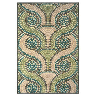 Denys Cream/Dark Gray Area Rug Rug Size: Rectangle 76 x 106