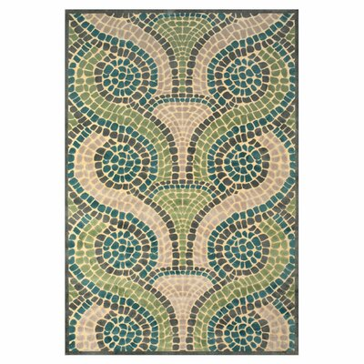Denys Cream/Dark Gray Area Rug Rug Size: 76 x 106