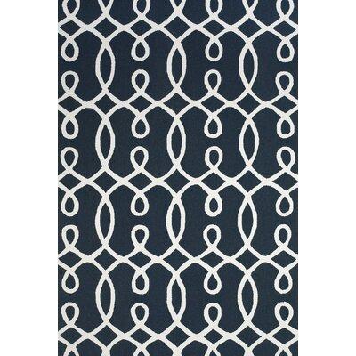 Tyson Navy & White Area Rug Rug Size: 86 x 116