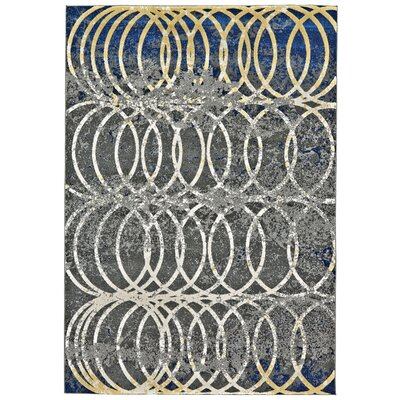 Stafford Smoke Area Rug Rug Size: Rectangle 8 x 11