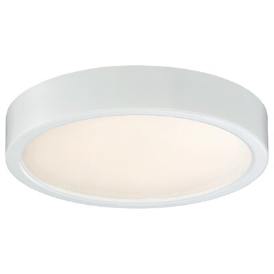 Vaughan 1-Light LED Flush Mount Finish: White, Size: 2.25 H x 8 W x 8 D