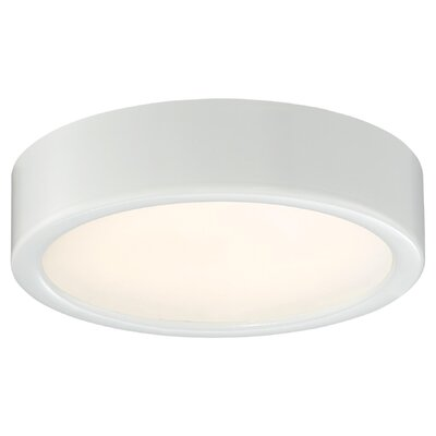 Vaughan 1-Light LED Flush Mount Finish: White, Size: 2.25 H x 6 W x 6 D