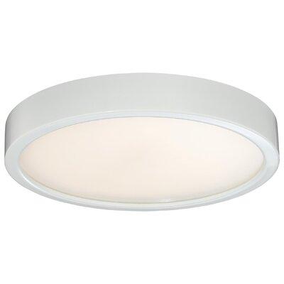 Vaughan 1-Light LED Flush Mount Finish: White, Size: 2.25 H x 10 W x 10 D