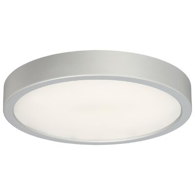 Vaughan 1-Light LED Flush Mount Finish: Silver, Size: 2.25 H x 10 W x 10 D