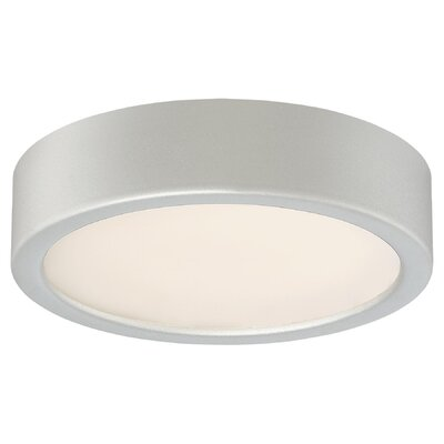 Vaughan 1-Light LED Flush Mount Finish: Silver, Size: 2.25 H x 6 W x 6 D