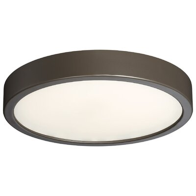 Vaughan 1-Light LED Flush Mount Finish: Silver, Size: 2.25 H x 8 W x 8 D