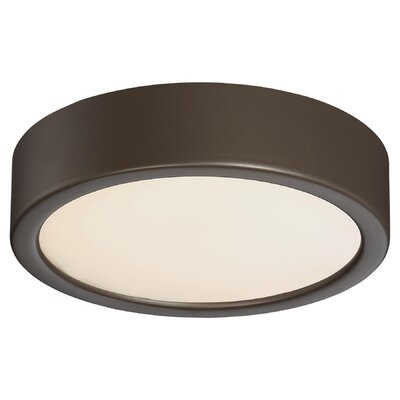 Vaughan 1-Light LED Flush Mount Finish: Copper Bronze Patina, Size: 2.25 H x 6 W x 6 D