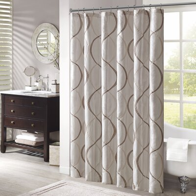 Rolph Shower Curtain Color: Ivory