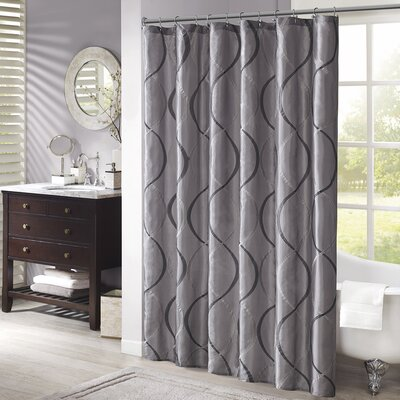Rolph Shower Curtain Color: Charcoal