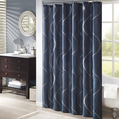 Rolph Shower Curtain Color: Navy