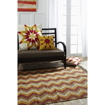 Spencer Red/Yellow Area Rug Rug Size: 5 x 8