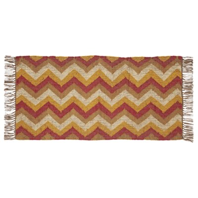 Spencer Red/Yellow Area Rug Rug Size: 2 x 4