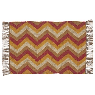 Spencer Red / Yellow Area Rug