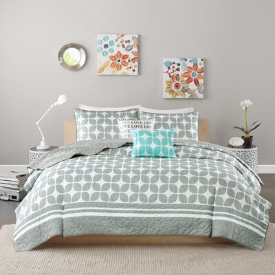 Young Coverlet Set Size: Full / Queen, Color: Gray