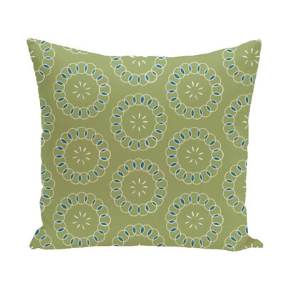 Flo Floral Print Throw Pillow Size: 18 H x 18 W x 1 D, Color: Avocado