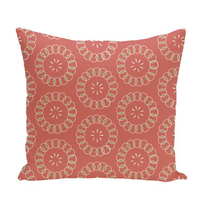 Flo Floral Print Throw Pillow Size: 16 H x 16 W x 1 D, Color: Seed