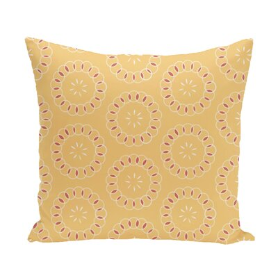 Flo Floral Print Throw Pillow Size: 16 H x 16 W x 1 D, Color: Lemon