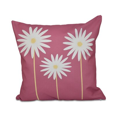 Bailey Floral Print Throw Pillow Size: 20 H x 20 W x 1 D, Color: Pink Cheeks