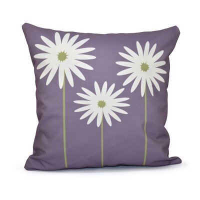 Bailey Floral Print Throw Pillow Size: 20 H x 20 W x 1 D, Color: Hyacinth
