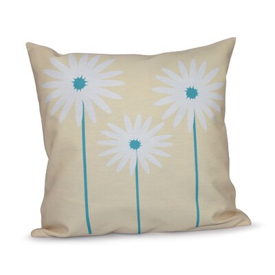 Bailey Floral Print Throw Pillow Size: 20 H x 20 W x 1 D, Color: Soft Yellow