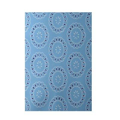 Elisha Is�..Floral Print Blue Indoor/Outdoor Area Rug Rug Size: 5 x 7