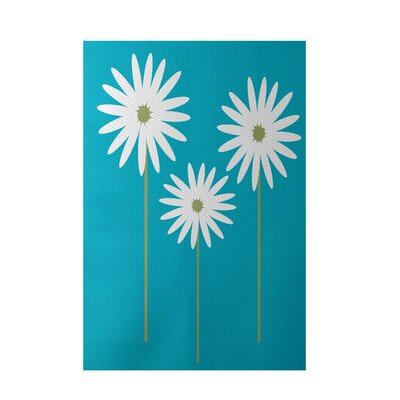 Bailey Caribbean Blue Indoor/Outdoor Area Rug Rug Size: 2 x 3