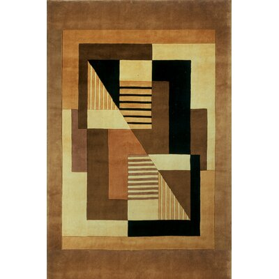 Zed Hand-Tufted Brown Area Rug Rug Size: 96 x 136
