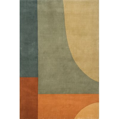 Zed Hand-Tufted Green Area Rug Rug Size: 2 x 3