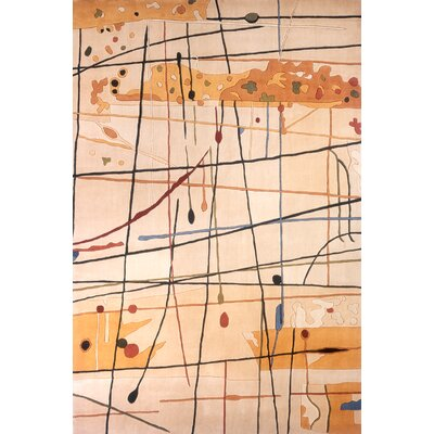 Despina Beige Area Rug Rug Size: Rectangle 36 x 56