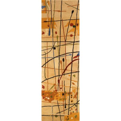 Zed Hand-Tufted Beige Area Rug Rug Size: Runner 26 x 12